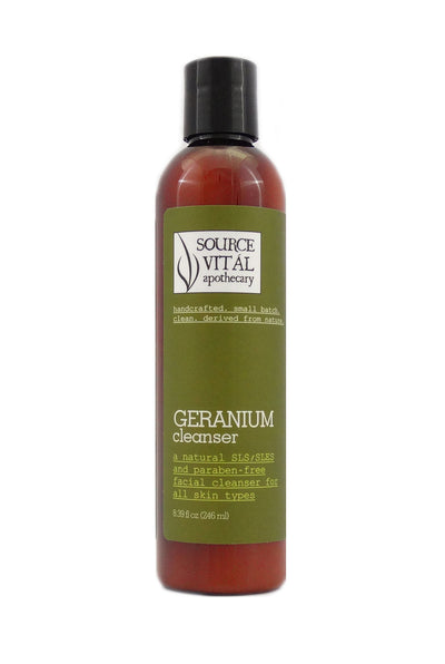 Natural Geranium Facial Cleanser for Normal Skin Types