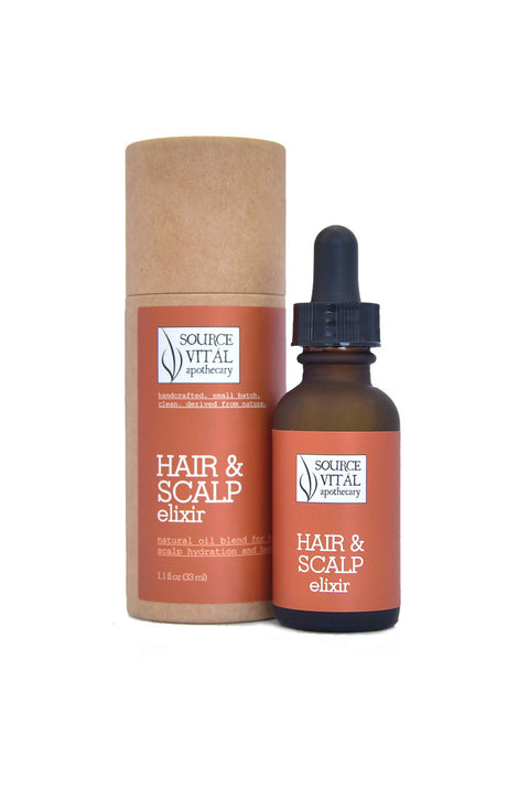 Natural Botanical and Essential Oil Blend for Healthy Hair and Scalp
