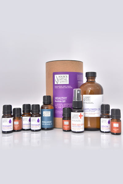 Aromatherapy Collection of Essential Oils & Oil Blends - Healthy Home Kit