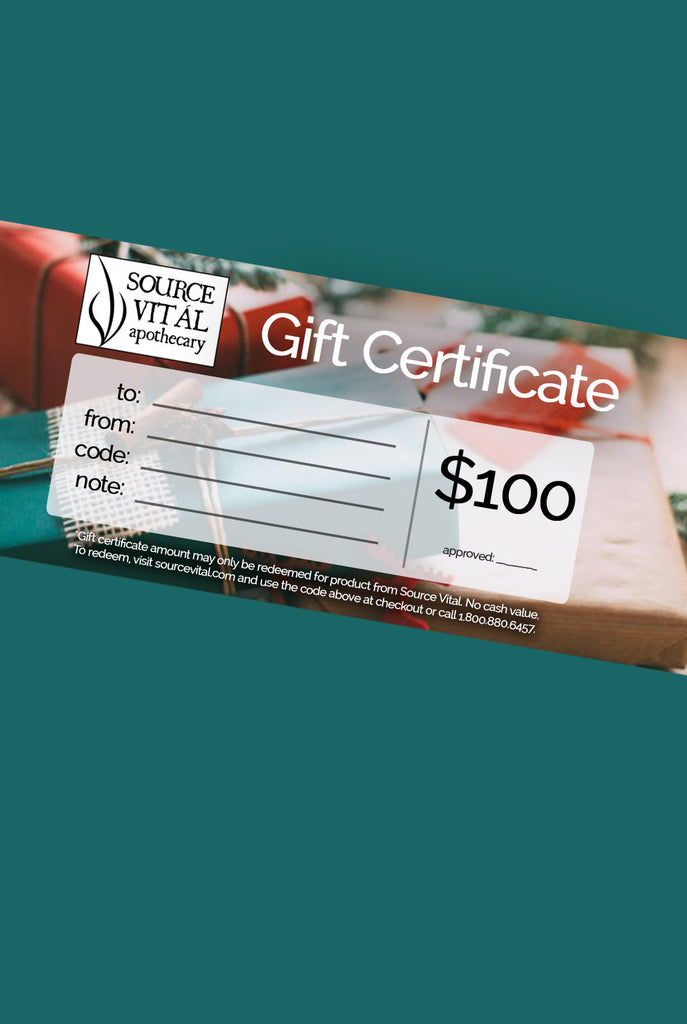 Source Vitál Gift Certificate