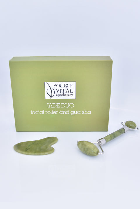 Source Vital Apothecary Jade Roller and Gua Sha Duo