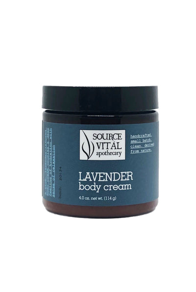 All Natural, Ultra Hydrating Lavender Body Cream to relax and nourish the skin