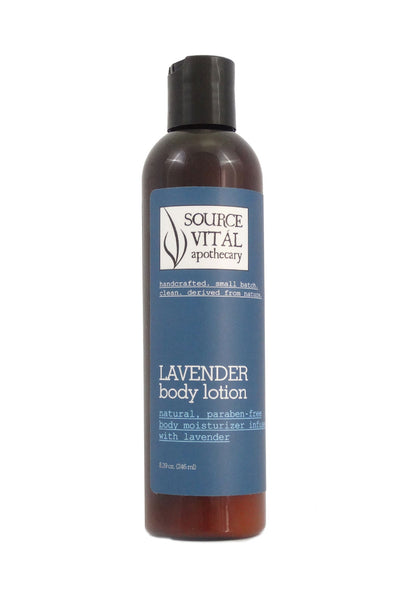 Natural Lavender Body Lotion Moisturizer - Paraben-Free, Natural Body Moisturizer