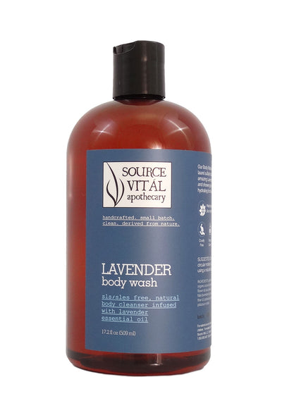 Natural Lavender Body Wash & Shower Gel