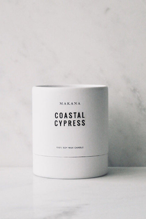 Coastal Cypress 100% Soy Wax Candle by Makana