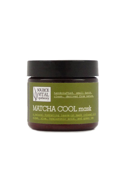 Matcha Cool Mask, A Natural Facial Mask to Soothe and Hydrate Skin