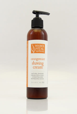 Orangemint Natural Shaving Cream for a Cool, Hydrating & Refreshing Shave
