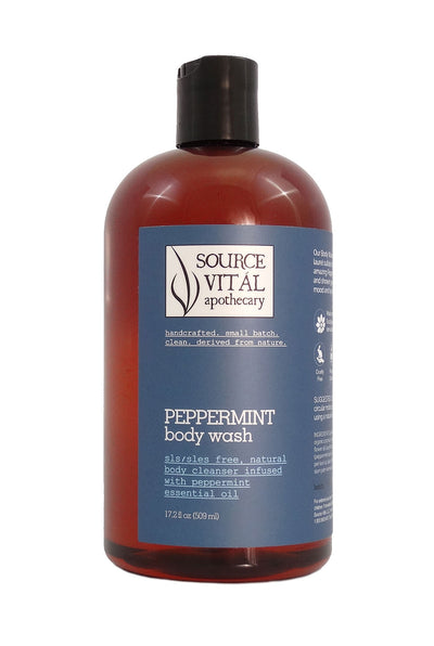 Peppermint Natural Body Wash, SLS/SLES Free