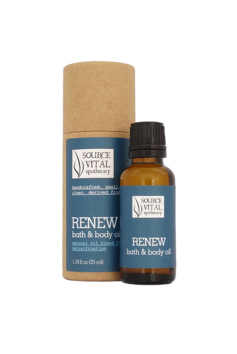 Renew Natural Bath & Body Oil for Detoxification and the Feeling of Bloating