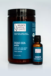 Bath Salts + Bath & Body Oil Duo for Renewal and Detoxification