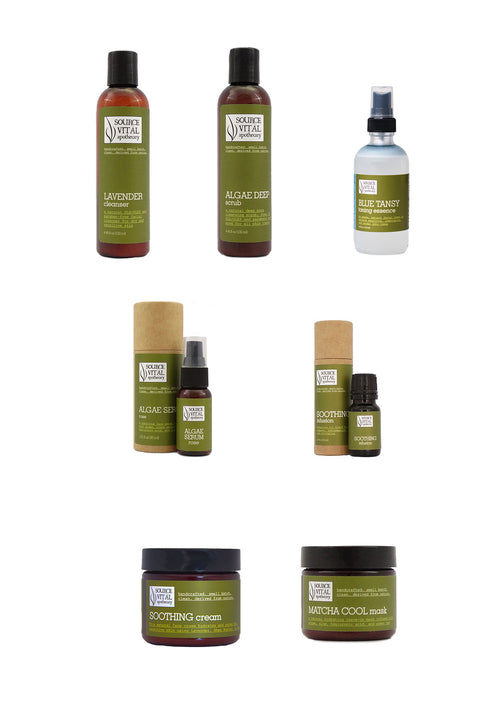 Sensitive Skin Kit, 7-natural product collection to improve the look and feel of sensitive skin.