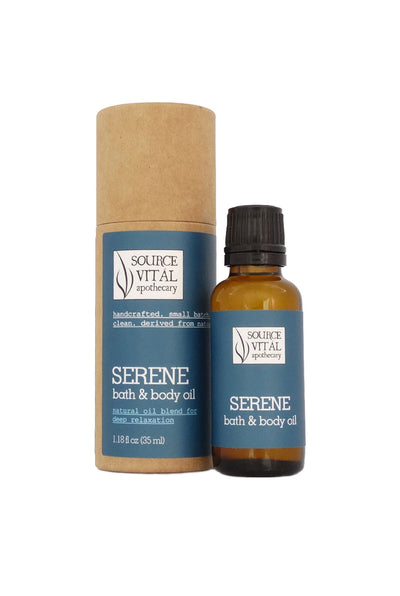 Serene Natural Bath & Body Oil for Deep Relaxation and Gentle Renewal