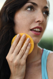 Yellow Cellulose Sponges for Better, Gentle Facial Cleansing