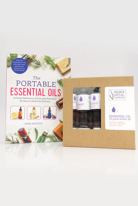 Essential Oil Starter Kit 10 Pack + The Portable Essential Oils Book Duo Pack