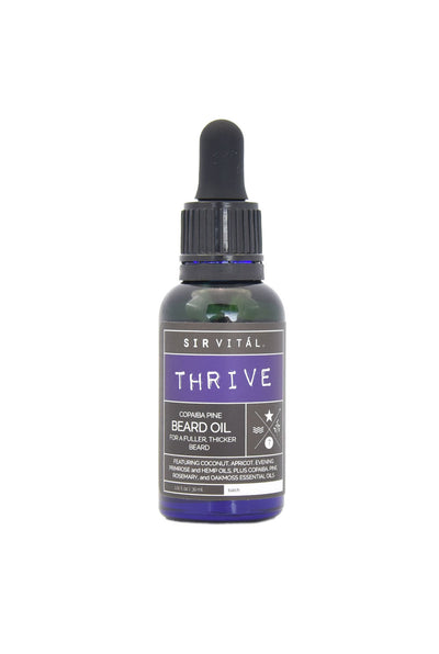 Sir Vital's THRIVE Beard Oil for a Fuller, Thicker Beard