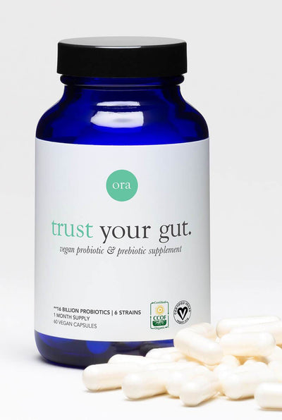 "Vegan Probiotics with Prebiotics Capsules – ""Trust Your Gut"""