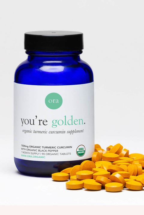 "Organic Turmeric Curcumin Capsules – ""You're Golden"""