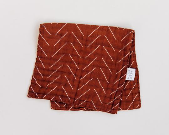 Burp Cloth | Rust Mudcloth