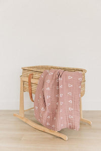 Muslin Quilt | Blush Triangle