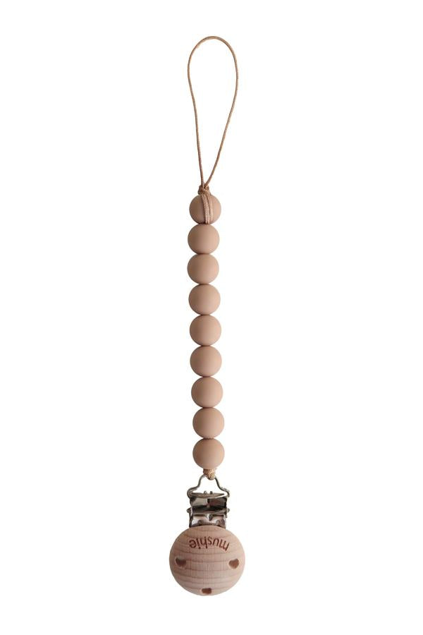 Pacifier Clip | Cleo (Pale Taupe)