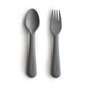Fork & Spoon Set | Smoke