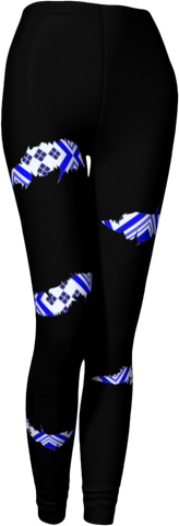 Blue Rip Legging in Black