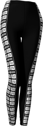 Black side pattern legging