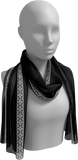 Long black scarf