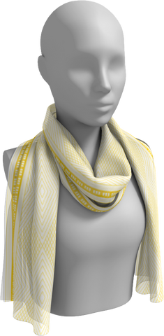 Long white scarf