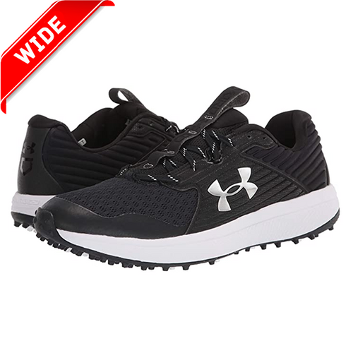 New! Under Armour 2020 Yard Turf Black/White Field Shoe WIDE Widths