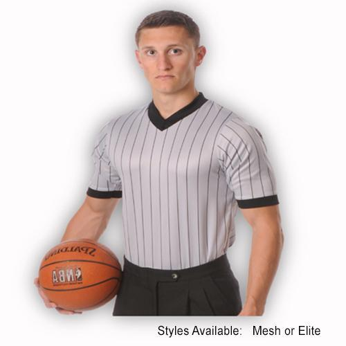 Smitty Grey Pin-Stripe V-Neck