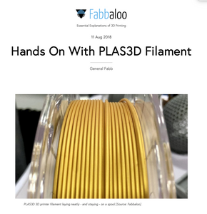 Hands On With PLAS3D Filament