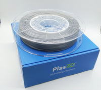 Plas3D Gunmetal Silver PLA 1.75mm 3D Printer Filament