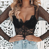 Madame Sheer Lace Bodysuit - Hype Fashion