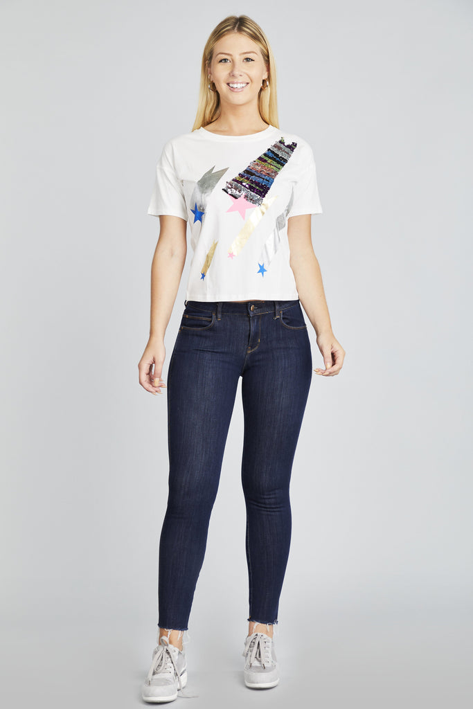 Star Sequin T-Shirt - Hype Fashion