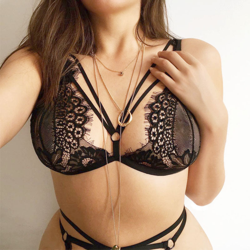 Transparent Bralette Set - Hype Fashion
