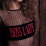 Boss Lady Mesh Bodysuit - Hype Fashion