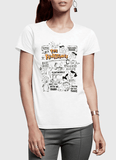 DOODLE Half Sleeves Women T-shirt - Hype Fashion
