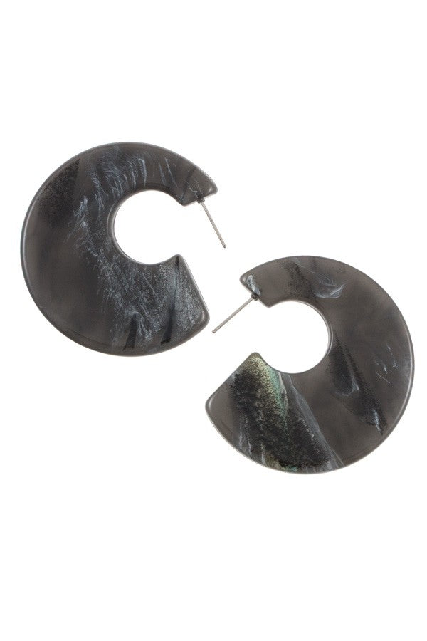 Semi circle acetate fashion earring - Hype Fashion