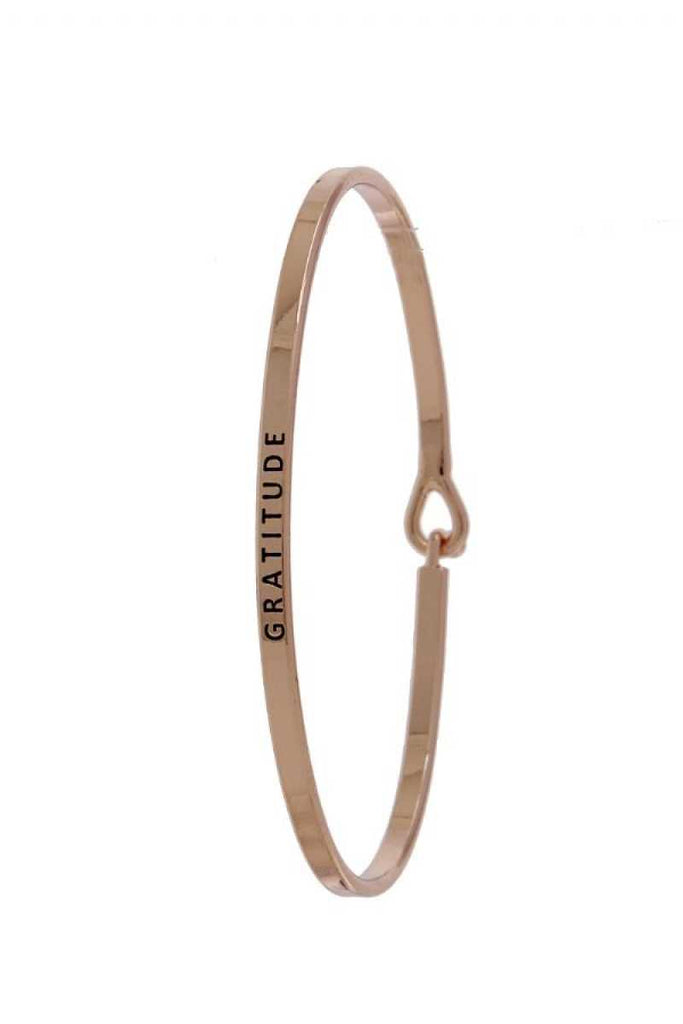 Gratitude Inspiration Bangle - Hype Fashion