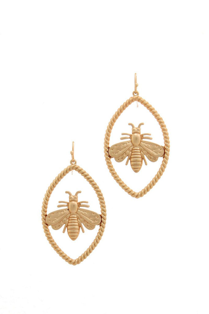 Trendy Bee Oval Earring - Hype Fashion