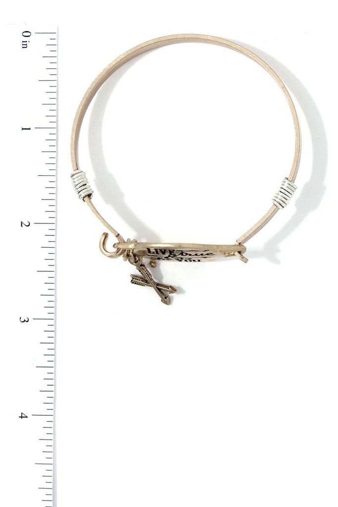 Live True & Be You Metal Bracelet - Hype Fashion