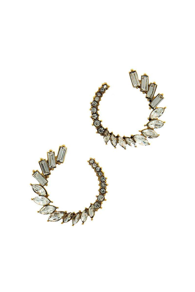 Designer Chic Stylish Rhinestone Earring - Hype Fashion