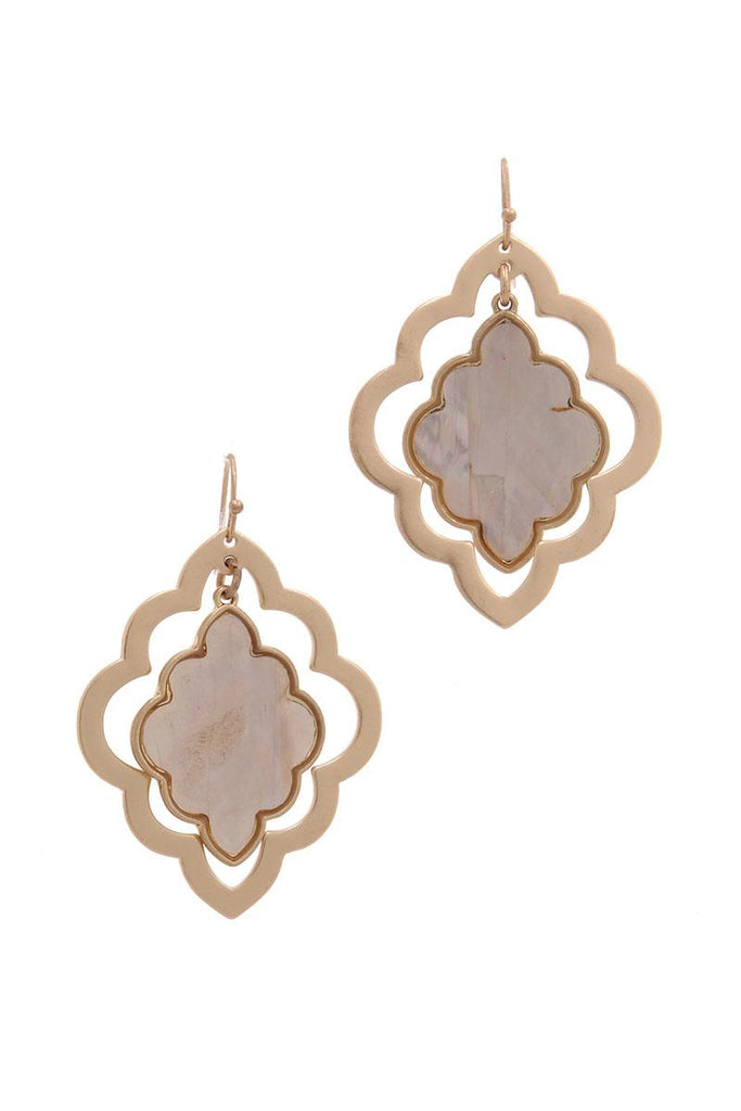 Moroccan Shape Drop Earring - Hype Fashion
