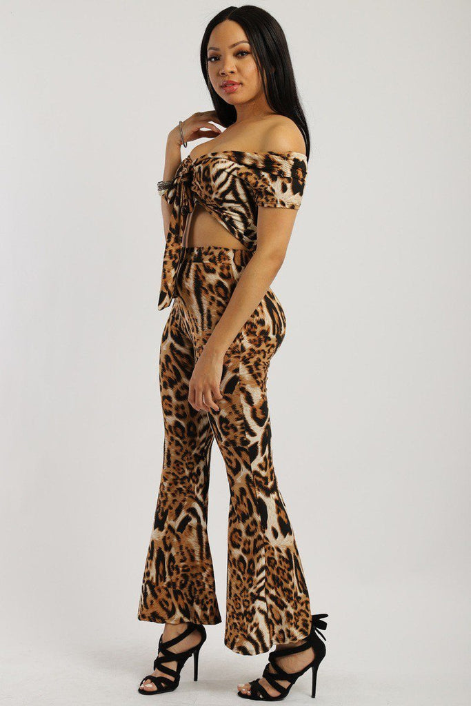 Hype Fashion Animal Print Two Piece Set - Hype Fashion