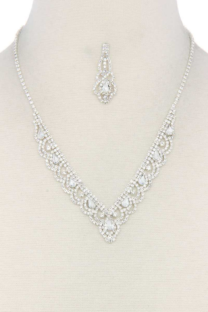 Rhinestone Necklace - Hype Fashion