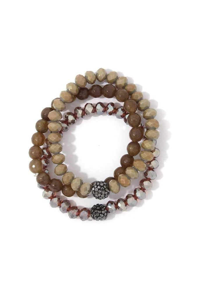 Beaded Stretch Bracelet Set - Hype Fashion