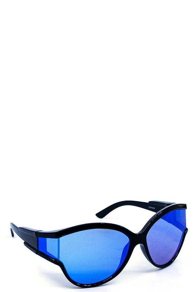Casual Poly Carbonate Wrap Sunglasses - Hype Fashion