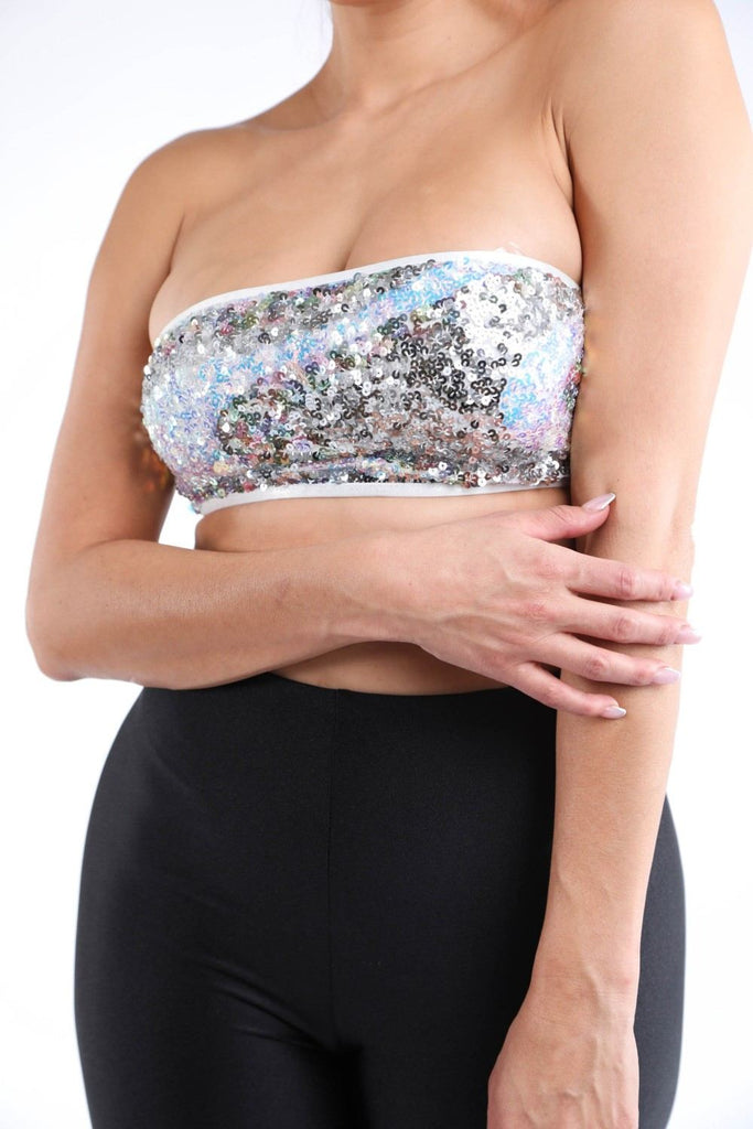 Hype Sequin Tube Tank Top - Hype Fashion