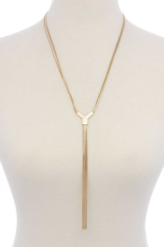 Snake Chain Y-shape Long Necklace - Hype Fashion